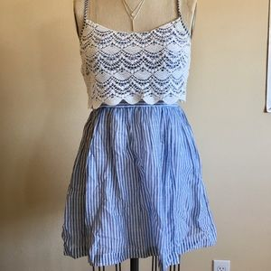Abercrombie and Fitch - blue and white dress